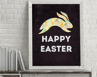 Happy Easter . Rabbit