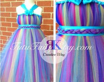 Carnival Inspired Tutu Dress from Tutu Fairy. Princess Tutu Dress. Flower girl dress. Birthday Tutu Dress
