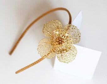 Fleur filigrane serre-tête headband