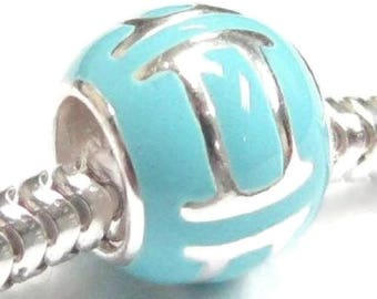 Sterling Silver Gemini Charm - Gemini Charm - Blue Gemini Charm -  Fits All Charm Bracelets