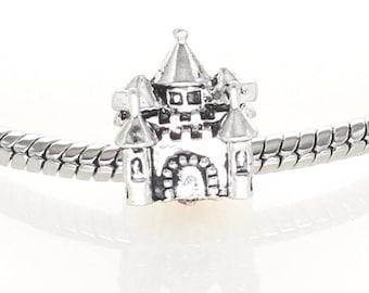 Silver Castle Charm - Silver Plated Castle Charm - Fits all Charm Bracelets
