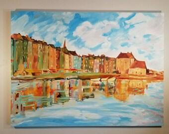 Landscape Oil Painting by Claude Monet 36×48, Oil Painting Reproduction, Monet Reproduction