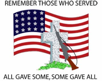 Remember Those Who Served Cross Stitch Pattern***LOOK***