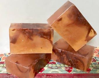 Orange and Ginger Glycerin Swirl Soap