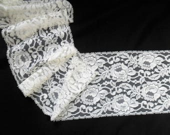 "Rose Lace Trim 6 3/4 "" Wide"
