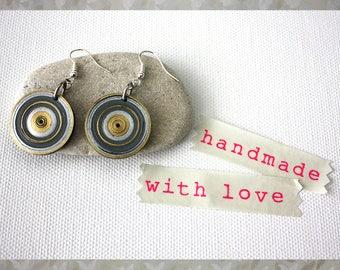 Earrings. Handmade paper jewellery. Jewelry. Drop earrings. Black.