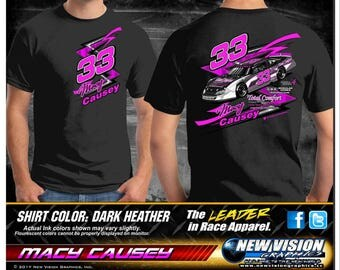 Macy Causey Racing Heather Gray T Shirts