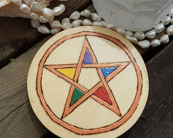 Elemental Wicca Altar Pentacle