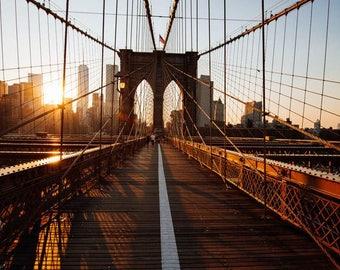 Sunrise, New York Photograph, Brooklyn Bridge, Fine Art Print