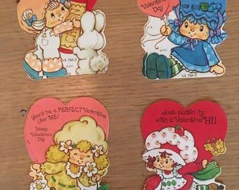 Vintage Strawberry Shortcake valentine cards with envelopes