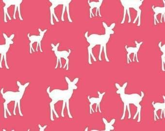 Baby Deer Fabric - Pink