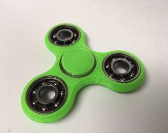 Standard Tri-Spinner in Neon Green