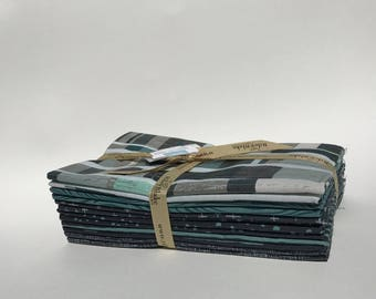 SALE - Knock on Wood Fabric Bundle by Riley Blake - Navy/Teal