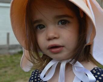 Bunny Bonnet Handmade Natural Dyes Baby Bonnet Toddler Bonnet Premie Bonnet Sun Bonnet Summer Bonnet Spring Bonnet