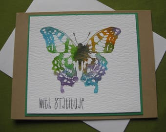 Thank You Cards - With Gratitude - Butterfly