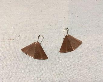 Ginko Modern - Copper Earrings by Leilehua Yuen