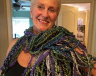 Unique Hand Knitted Custom Crocheted Scarf