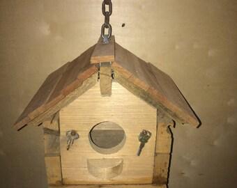 Cypress/Mahoghany roof Birdhouse