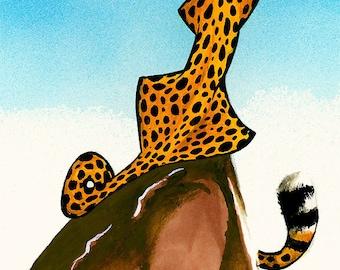 Children's illustration of a Cheetah