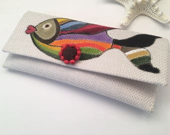 Fish handmade clutch