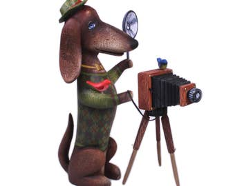 Dog. Photographer. Dachshund . Ideal gift to a professional photographer.