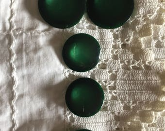 Gorgeous Green Vintage Buttons - 2 sizes, plastic