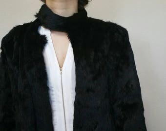 Vintage Black Rabbit hair jacket