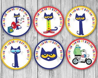 Pete the Cat Thank you/Favor Tags (Digital)