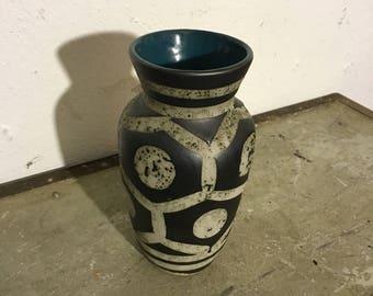 Ceramic vase 60s German ceramic pottery vase German