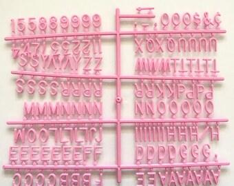 3/4 inch Pink Letter Set