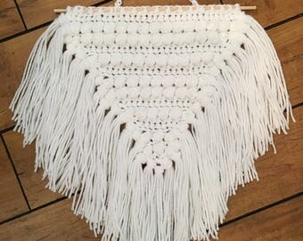 Triangle crochet wall hangings