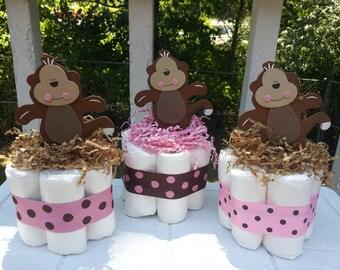 Set of Four Mini Diaper Cakes
