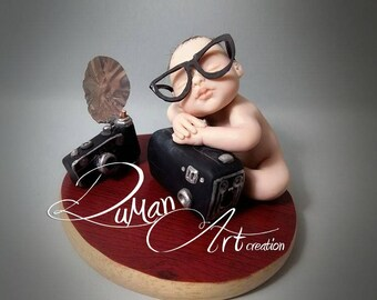 OOAK baby Artdolls, miniatures, Doll, One of a Kind, sculpture, polimery RICKY