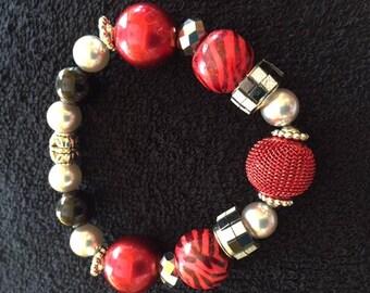 Black & Red Beaded bracelet