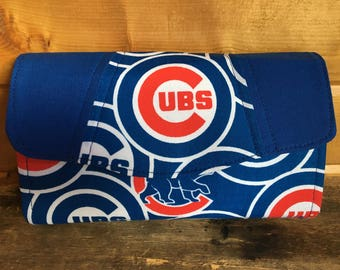 Necessary clutch wallet/NCW/Clutch/ accordion wallet/ wallet/Chicago cubs