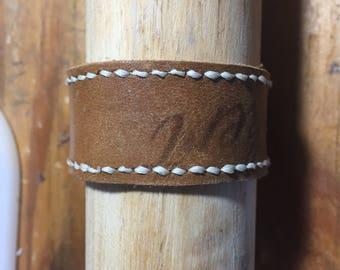 Re-Purposed Baseball Glove Leather Bracelet