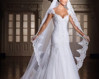 Stunning Mermaid Vintage Sweetheart Wedding Dress With Cap Sleeves And Lace Up Back