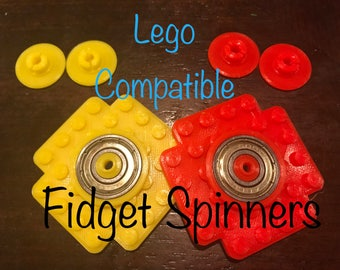 Lego Compatible Build Your Own Fidget Spinner