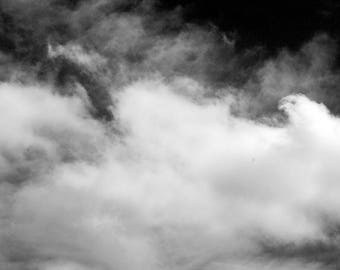 Smoke In The Sky Black and White Photograph Print
