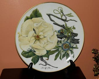 Franklin Porcelain Mississippi Delta Wildflowers Collectable Plate