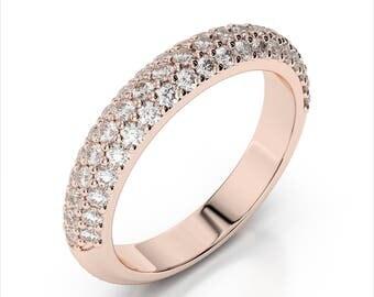 0.50ctw. Diamond Wedding Band 14k Rose Gold