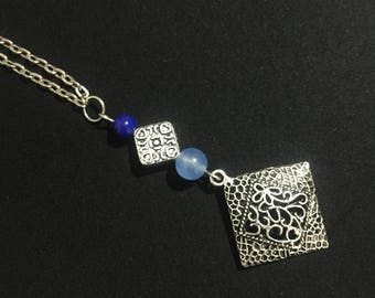 Azurite and Blue Chalcedony Necklace