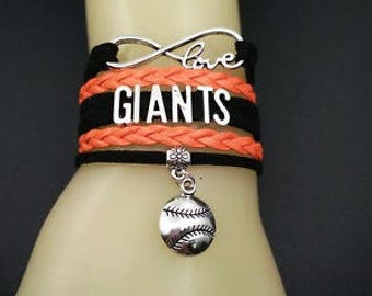 San Francisco Giants MLB Infinity Love Bracelet