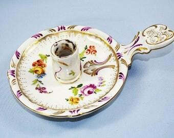 Antique Porcelain Candlestick European