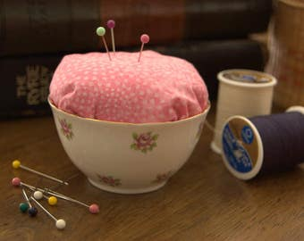 Rose Bowl Pin Cushion
