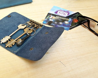 Leather key Pouch, Leather key case, Housekeeper, Leather housekeeper, Leather purse