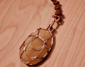 Tumbled River Stone Pendant Necklace