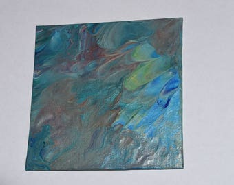 Mini Northern Lights - Abstract Acrylic Pour Painting #14