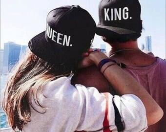 King Queen His Hers Snapback Caps Pair Fashion Hip-Hop Caps Hats Tumblr Fashion Snapbacks