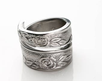 Spoon Ring, Silverware Ring, Adjustable Ring,